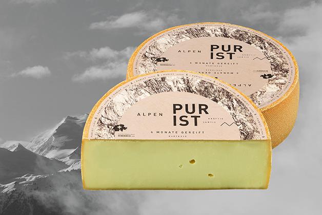 Bild Composing mit dem Alpen Purist Käse
