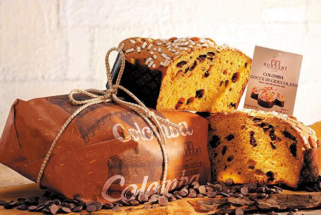 Bild von einer Panettone mit Schokolade