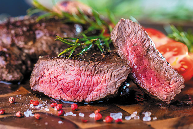 Ein Steak angeschnitten von Otto Gourmet