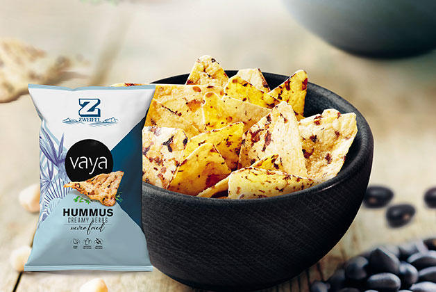Vaya Hummus Chips in einer Schüssel